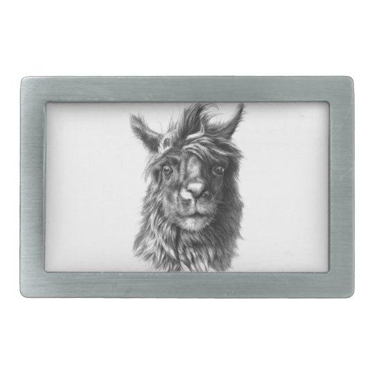 Boucles De Ceinture Rectangulaires Cute Llama portrait