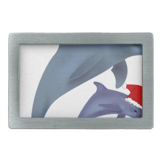 Boucles De Ceinture Rectangulaires dauphins de père Noël