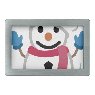 Boucles De Ceinture Rectangulaires Dessin de bonhomme de neige