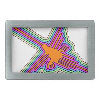 Boucles De Ceinture Rectangulaires Dessin du Pérou de colibri de Nazca