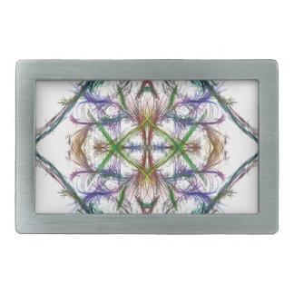 Boucles De Ceinture Rectangulaires Dessin géométrique sur l'arrière - plan blanc