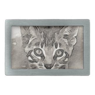 Boucles De Ceinture Rectangulaires Dessin mignon de chaton du Bengale