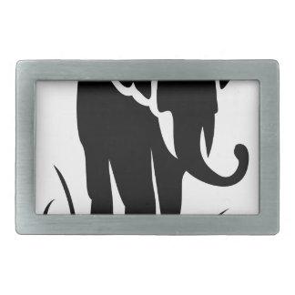 Boucles De Ceinture Rectangulaires Éléphant majestueux