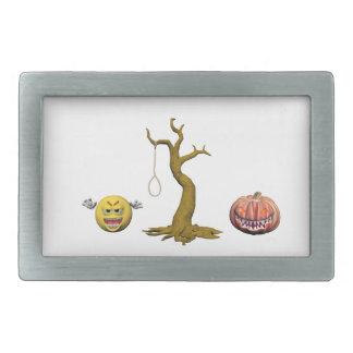 Boucles De Ceinture Rectangulaires Émoticône jaune ou smiley de Halloween