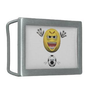 Boucles De Ceinture Rectangulaires Émoticône jaune ou smiley du football