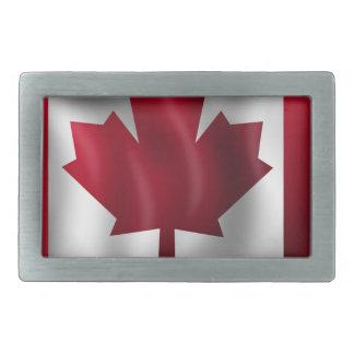 Boucles De Ceinture Rectangulaires Érable canadien de feuille d'emblème de pays de