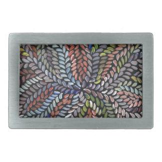 Boucles De Ceinture Rectangulaires Feuille multicolore de médecine de buisson