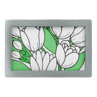 Boucles De Ceinture Rectangulaires Fleur de jasmin