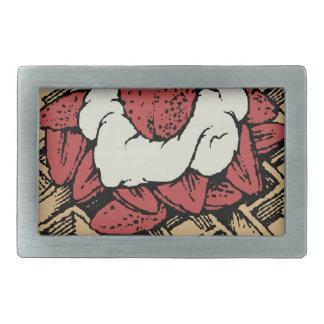 Boucles De Ceinture Rectangulaires Gaufres belges avec des fraises