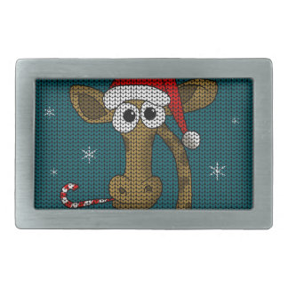 Boucles De Ceinture Rectangulaires Girafe de Noël