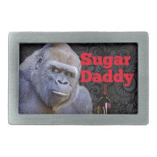 Boucles De Ceinture Rectangulaires gorille drôle de papa gâteau de plaisanterie