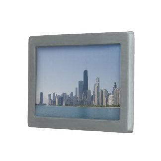 Boucles De Ceinture Rectangulaires Horizon de Chicago dans des bleus plus profonds