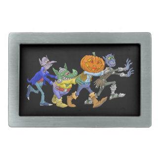 Boucles De Ceinture Rectangulaires Illustration de bande dessinée d'un Halloween