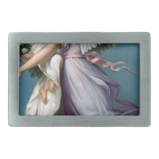 Boucles De Ceinture Rectangulaires Illustration vintage d'ange et d'enfant