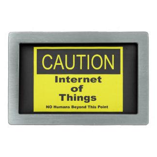 Boucles De Ceinture Rectangulaires Internet de panneau d'avertissement de précaution