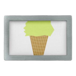 Boucles De Ceinture Rectangulaires jaune de style d'amusement de crème glacée