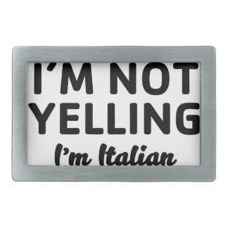 Boucles De Ceinture Rectangulaires Je suis ne hurlant pas moi suis italien