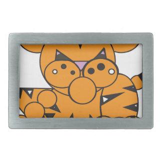 Boucles De Ceinture Rectangulaires La forme a fait le tigre