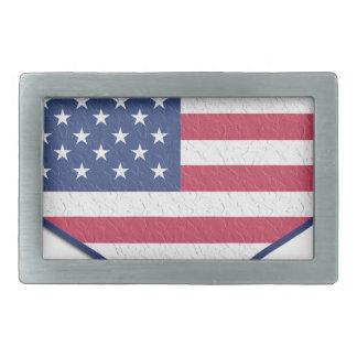 Boucles De Ceinture Rectangulaires L'amour Etats-Unis Etats-Unis de coeur de symbole