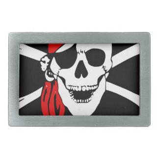 Boucles De Ceinture Rectangulaires Le drapeau de pirate désosse le symbole de danger