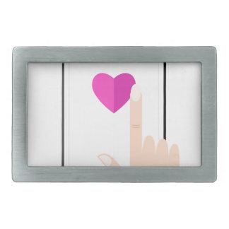Boucles De Ceinture Rectangulaires Les filles remettent avec le mobile et aiment