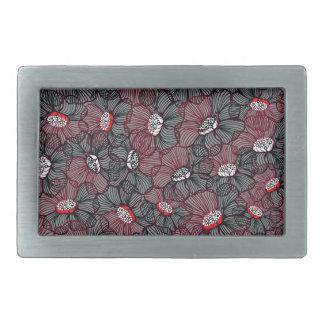 Boucles De Ceinture Rectangulaires ligne fleur