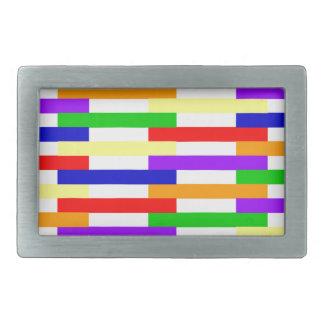 Boucles De Ceinture Rectangulaires Ligne multicolore conception