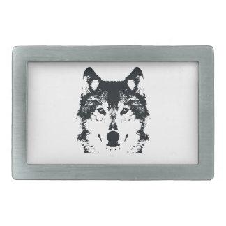 Boucles De Ceinture Rectangulaires Loup noir d'illustration
