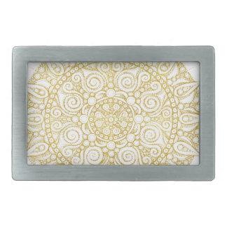 Boucles De Ceinture Rectangulaires Mandala vintage oriental élégant en or classique