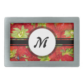 Boucles De Ceinture Rectangulaires Monogramme sain d'ajustement de fraise mignonne