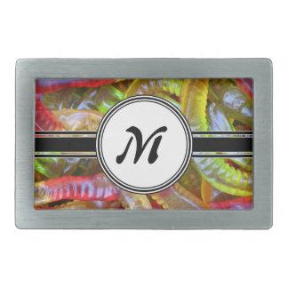 Boucles De Ceinture Rectangulaires Motif de monogramme de bonbons à Gummie de