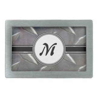 Boucles De Ceinture Rectangulaires Motif en acier de monogramme en métal