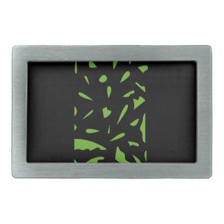 Boucles De Ceinture Rectangulaires Noir de luxe de vert d'ornements
