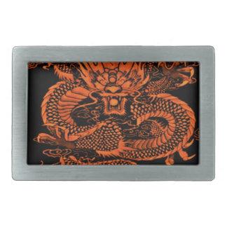 Boucles De Ceinture Rectangulaires Orange épique de dragon