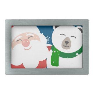 Boucles De Ceinture Rectangulaires Père Noël et l'ours