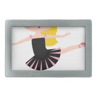 Boucles De Ceinture Rectangulaires Petit noir de fille de ballerine avec blond