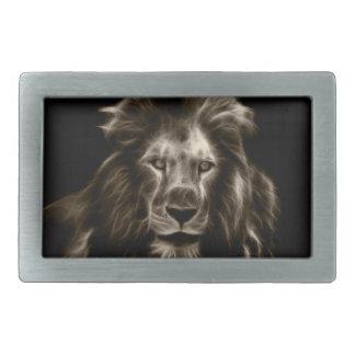Boucles De Ceinture Rectangulaires Portrait de lion