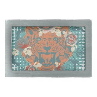 Boucles De Ceinture Rectangulaires Portrait ornemental 3 de tigre