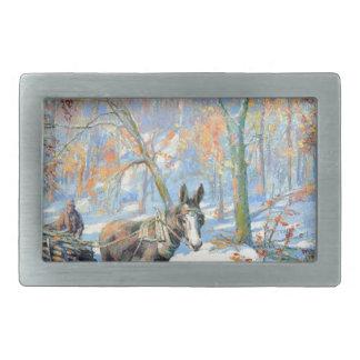Boucles De Ceinture Rectangulaires Récolte d'automne de l'impressionisme |