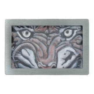 Boucles De Ceinture Rectangulaires Sur le Bord-Tigre