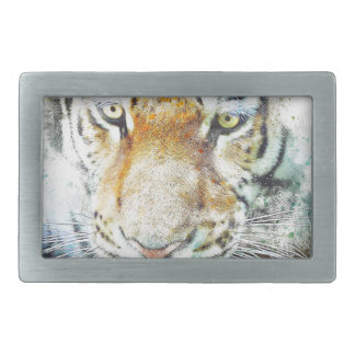 Boucles De Ceinture Rectangulaires tigre de conception d'art