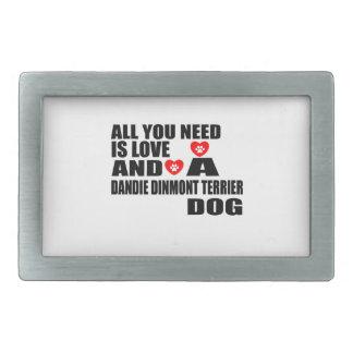 Boucles De Ceinture Rectangulaires Tous vous avez besoin des chiens Desi de l'amour