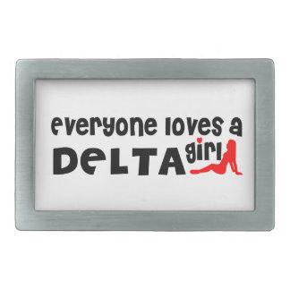 Boucles De Ceinture Rectangulaires Tout le monde aime une fille de delta