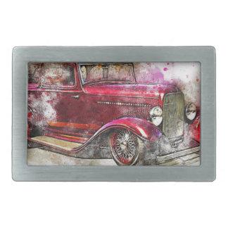 Boucles De Ceinture Rectangulaires Vieux cru d'aquarelle d'abrégé sur art de voiture