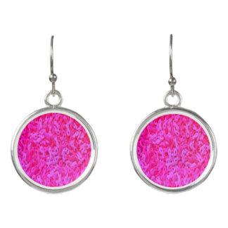Boucles D'oreilles Bijoux roses de conscience de cancer du sein de