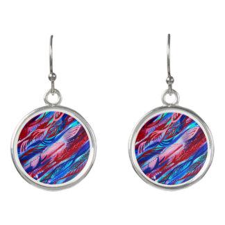 Boucles D'oreilles Boucles d'oreille abstraites colorées d'aquarelle