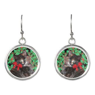 """Boucles D'oreilles Boucles d'oreille de baisse """"de Kitty de Noël"""""""