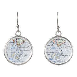 Boucles D'oreilles Boucles d'oreille de carte d'île de Gotts
