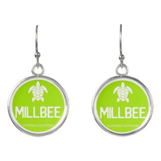 Boucles D'oreilles Boucles d'oreille de Millbee de vert de chaux