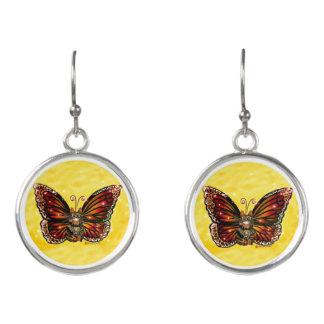 Boucles D'oreilles Boucles d'oreille féeriques de chat de papillon